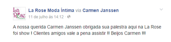 20 - Depoimentos - Palestras - Carmen Janssen